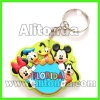 High quality promotional pvc 2d 3d cartoon figure animal keychains custom manufacturer
