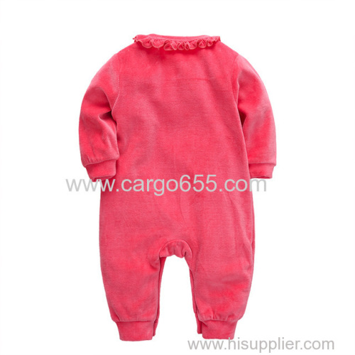 Wuawua Wholesale Romper Baby Clothes Cute infant Winter Outwear Outfits Baby Long Sleeve Jumpsuit For Newborns