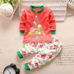 осень зима детская одежда девушки мальчики одежда наборы одежды костюм футболка + брюки снаряжение дети baby рождественский костюм