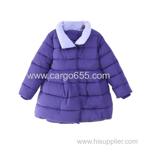 Girls' Pure Cotton Coat Heavy Winter Modern Clothing Children'S Windproof Fabric