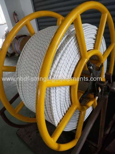 UHMWPE rope with high strength for stringing overhead transmission line