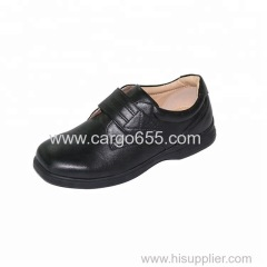 Black PU Synthetic Leather Kids School Shoes