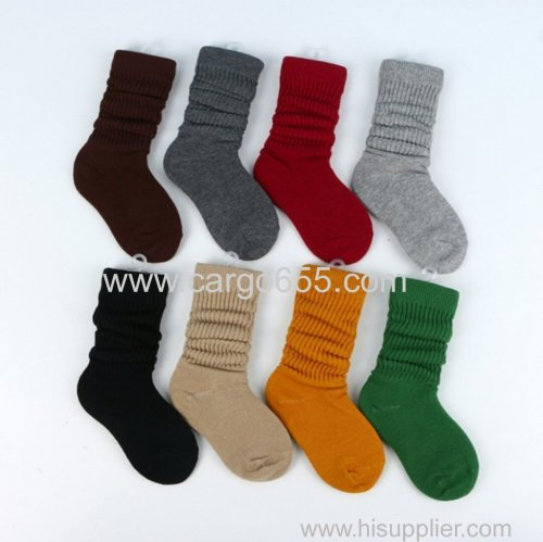 Autumn winter fashionable cheap blank non slip cotton tube kids socks