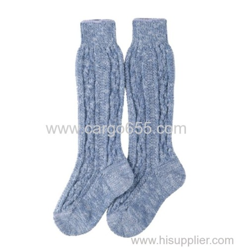 100% cotton knitted kid knee socks with fashion design