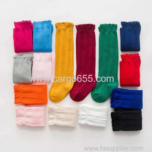 New Fashion Baby Girls Soft Knee High Socks Toddler Kids Long Cotton Socks for 0-3 Year