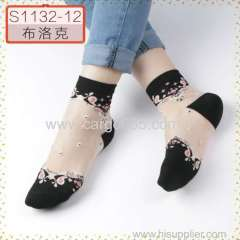 中国の女性のクリスタルハッピーレースの靴下メーカーから