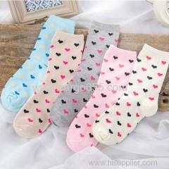 新しいスタイルのかわいい靴下キャンデーの色の厚い暖かい綿の女性の靴下