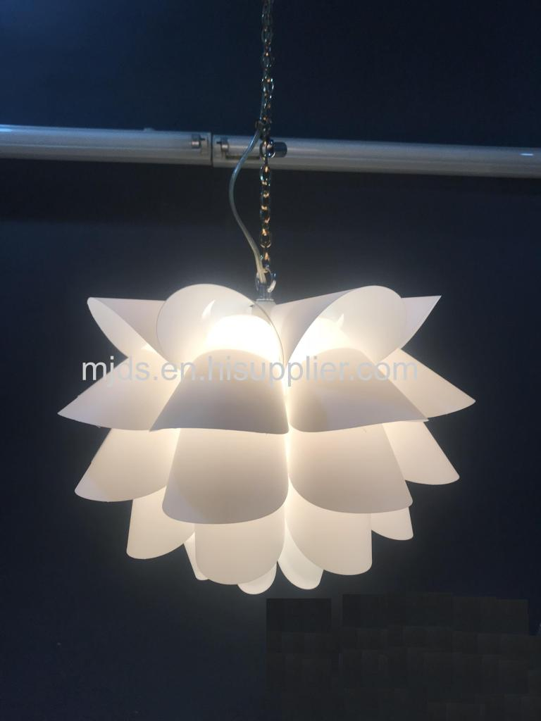 Assembly Lotus Chandelier Ceiling Pendant Lampshade DIY Puzzle Lights Modern Lamp