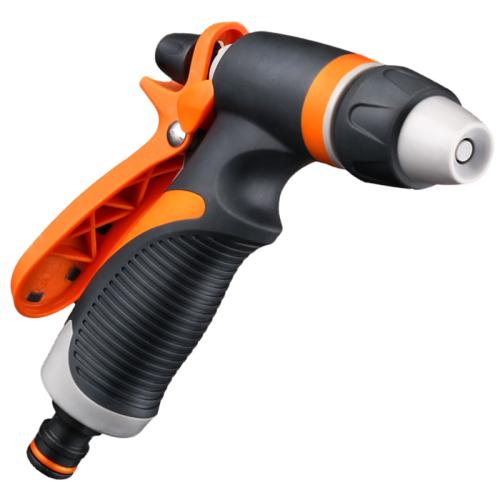 Plastic adjustable garden water hose nozzles