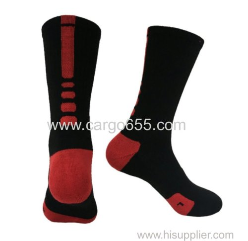 High Quality Polyester Jacquard Stocks Teen Tube Men Football Soccer Sports Socks