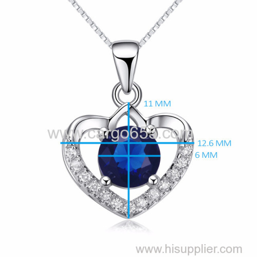 Sterling Silver Pendant Charm Pendent 925 Love Chain Crystal Shape Fashion Design Hollow Pave Heart Shaped Jewelry Neckl