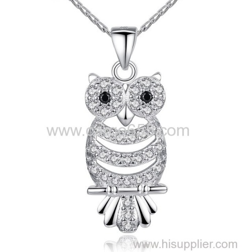 Fashion AAA Cubic Zirconia Jewerly Night Owl Necklace