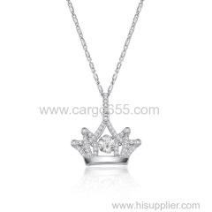 Хрустальная корона танцует камень ювелирные изделия ожерелье