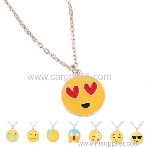 Wholesale Fashion Jewelry Stainless Steel Emoji Pendant Necklace