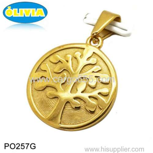 Olivia Fine Jewelry Gold Tree of Life Pendant Necklace