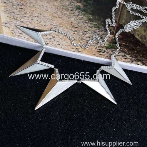 China Wholesale 925 sterling silver jewelry necklace sterling silver initial wedding necklace