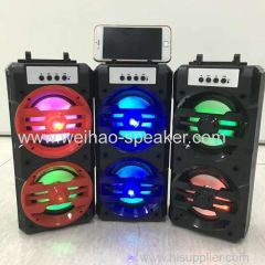 plastic Portable digital speaker wireless bluetooth with led light