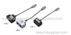 RJ45 STP cable length 150mm 2-port ISDN adapter