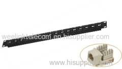 """1U 19"""" 24 Port Blank Unloaded Patch Panel for Cat6 Cat6A FTP"""