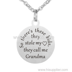 Jewerly Gift to Grandma Pendant Necklace