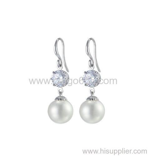 imitation jewelry women jewelry drop pearl earing