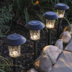 Black Metal Landscape Solar Garden Light