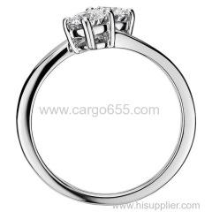 新しいモデルシンプルなジュエリーファッション最新のジルコンストーンシルバーエンゲージメント金メッキ結婚指輪のデザイン女の子の女性のための