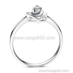 リングジュエリー女性新しいシンプルでエレガントな優れたラウンドカットダイヤモンドの結婚指輪