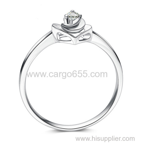 Rings jewelry women New Simple and Elegant Excellent round Cut Diamond Wedding Rings