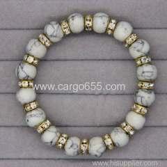 High Quality Natural Gemstone Wrist Bangles Garnet Kallaite Ironstone Beads Bracelets