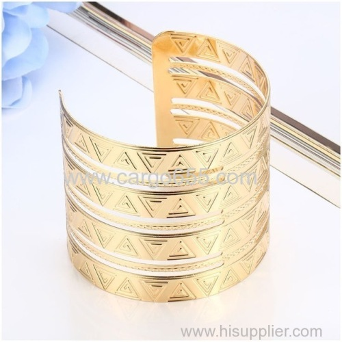Wholesale Love Wide Cuff Bracelets & Bangles For Women Men Gold Silver Color Alloy Open Bangle Bracelet Hollow