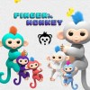 13cm New Finger Child Toy Finger Monkey Kid Colorful Finger baby Monkey Kawaii Pet Toys For Children only LED glow and t