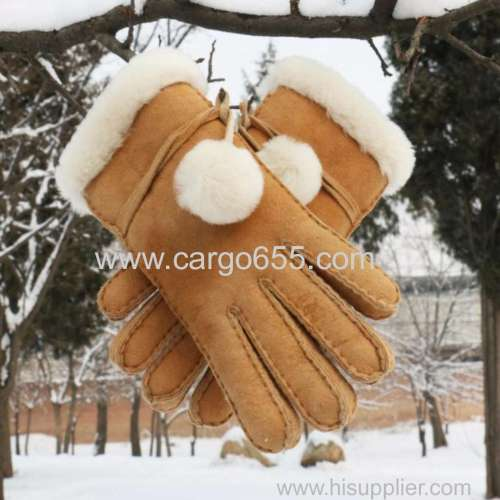 factory wholesale leather gloves & mittens genuine fur leather gloves
