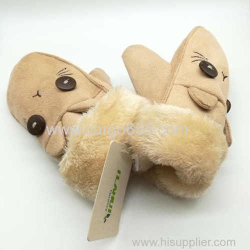 Product Type Suede fabric gloves Material Suede fabric Fabric Type Animals pattern Feature Warm Windproof Comfortable