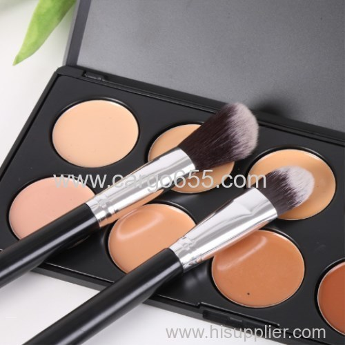New 12Pcs/Sets Eye Shadow Foundation Eyebrow Lip Brush cosmetics Makeup Brushes Tool Leather Cup Holder Case Kit D1