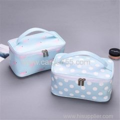 Makeup Bag Organiser Bag Logo Flamingo And Dot Custom Printed Canvas Tote Bags