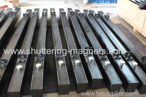 magnetic shuttering with hook 2495mm precast concrete permanent shuttering magnet system