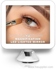 Cordless 6.5 Inch Wide Touch Screen Bathroom Magnifying LED Mirror