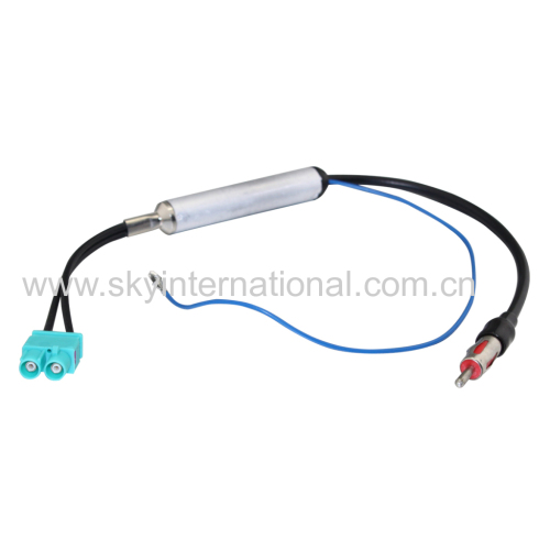 Dual Fakra Antenna Adapter With Filter Inside For VW Car Audio Radio