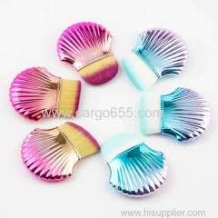 New Design Makeup Cosmetic Brushes Single Foundation Make Up Brush Shell Brush
