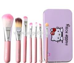 Hello Kitty 7Pcs Makeup Brush Set Mini Professional Facial Cosmetics Make Up Brushes Set