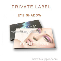 Makeup eye shadow private label shimmer and glitter eyeshadow palette