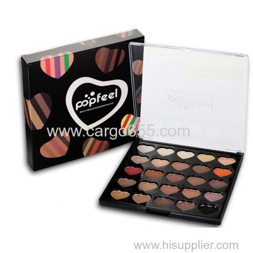 Eyes Shadow Make Up Profissional Waterproof Cute Heart Shimmer Matte Nude Eyeshadow