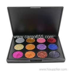 Makeup Beauty Long Lasting Easily Use 12 Glitter Colors Eyeshadow Palette