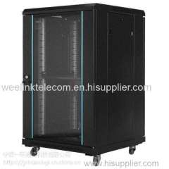 "19"" colded rolled steel material Network server Rack Cabinet 18U-47U"