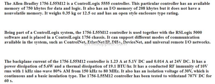 1756-L55M12 Allen Bradley ControlLogix Processor Module from China