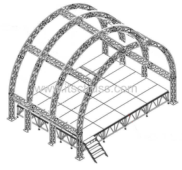 Lighting Truss System With Dome Roof for St thomas United Stages