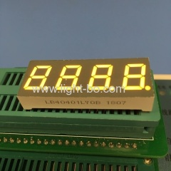 "4 Digit 0.4"" Common Cathode Amber 7 Segment LED Numeric Displays for instrument panel"