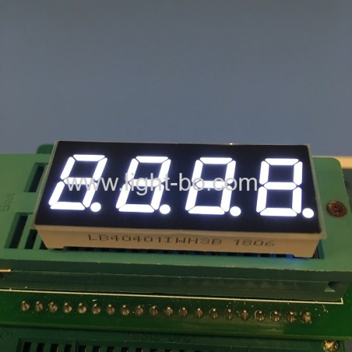 Low current ultra blue common anode 0.4 4 digit 7 segment led display for temperature indicator