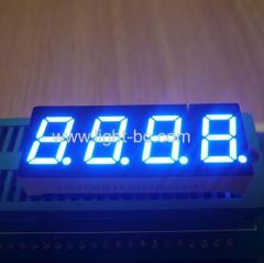 "Low current ultra blue common anode 0.4"" 4 digit 7 segment led display for temperature indicator"